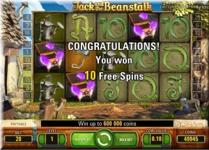 Jack and Beanstalk gameplay frame