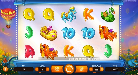 Theme Park Tickets of Fortune slot screenshot big