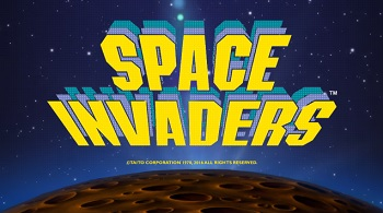 Space invaders slot logo
